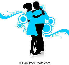 Dancing couple - Illustration of dancing couple