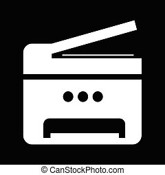 Copy Machine Multifunction printer icon illustration design
