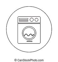 Washing machine icon illustration design