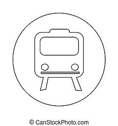 Train icon illustration design