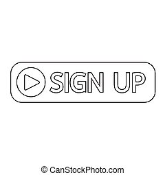 sign up button icon illustration design