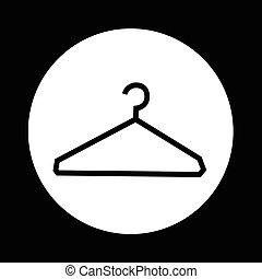 Clothes Hanger Icon illustration design