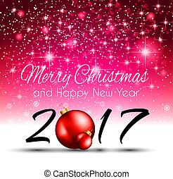2017 Happy New Year Background for your Seasonal Flyers and...