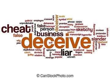 Deceive word cloud concept