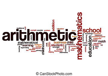 Arithmetic word cloud concept