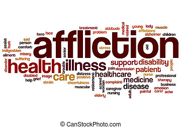 Affliction word cloud concept