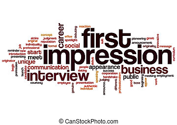 First impression word cloud concept