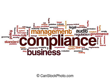 Compliance word cloud concept