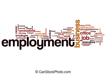 Employment word cloud concept