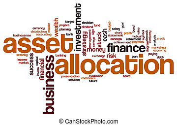 Asset allocation word cloud concept