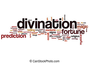 Divination word cloud concept