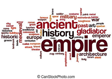 Empire word cloud concept