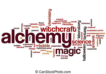 Alchemy word cloud concept