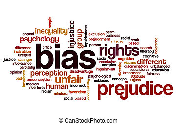 Bias word cloud concept
