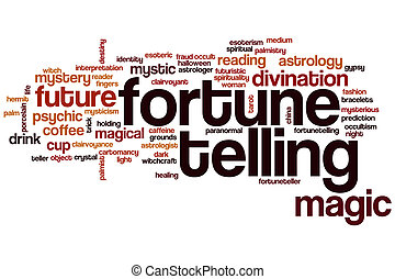 Fortune telling word cloud concept