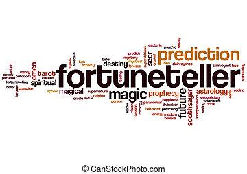 Fortuneteller word cloud concept