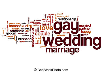 Gay wedding word cloud