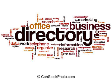 Directory word cloud concept