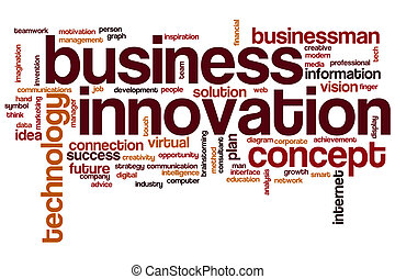 Business innovation word cloud