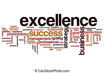 Excellence word cloud