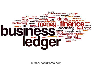 Business ledger word cloud concept