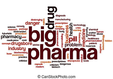 Big pharma word cloud - Big pharma  word cloud concept