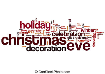 Christmas Eve word cloud concept