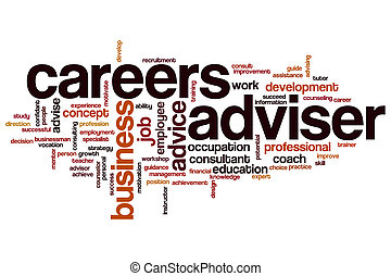 Careers adviser word cloud concept