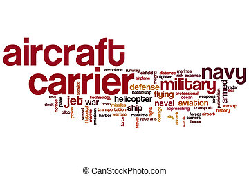 Aircraft carrier word cloud concept