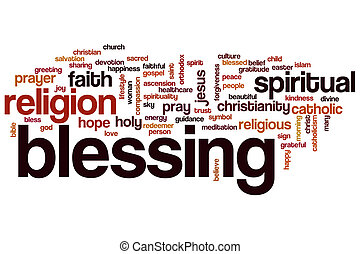 Blessing word cloud concept