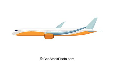 Airplane Isolated on White. Air Travel Concept - Airplane...