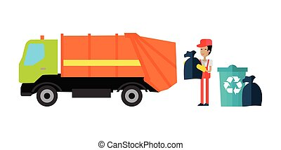 Utilities Garbage Removal Concept Vector - Utilities garbage...