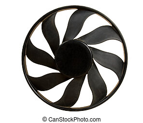 Engine fan - A engine fan - isolated with clipping path