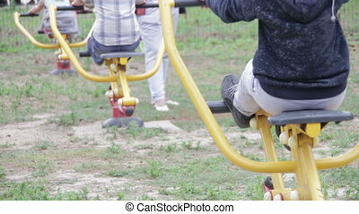 Children Fitness Equipment on the Street - Children's...