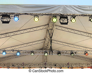 Structures of stage illumination lights equipment