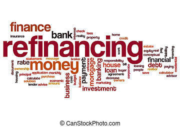 Refinancing word cloud concept