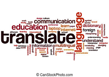 Translate word cloud concept