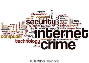 Internet crime word cloud concept
