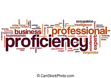 Proficiency word cloud concept