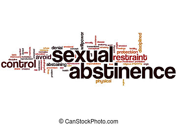 Sexual abstinence word cloud concept
