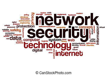 Network security word cloud concept