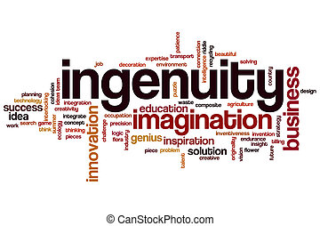 Ingenuity word cloud concept