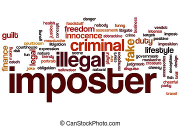Imposter word cloud concept