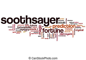 Soothsayer word cloud concept