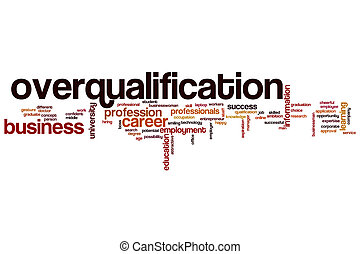 Overqualification word cloud