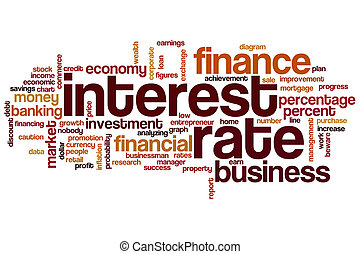 Interest rate word cloud
