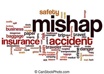 Mishap word cloud concept