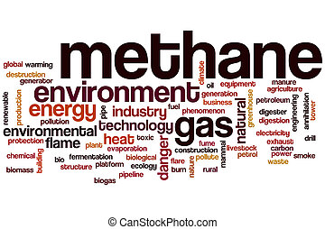 Methane word cloud concept