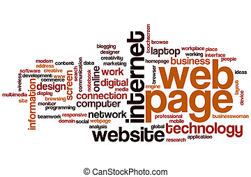 Web page word cloud concept