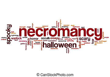 Necromancy word cloud concept